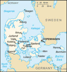 map of countries surrounding germany denmark