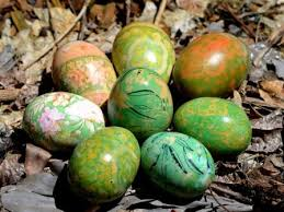Decorating Easter Eggs With Silk by Hinterland Mama Silk Fabric And Silk Yarn Dyed Eggs For Easter