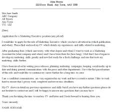marketing executive cover letter example u2013 cover letters and cv