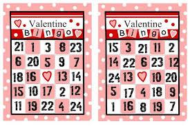 valentines bingo free printable valentines bingo cards template update234