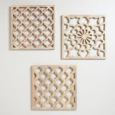 nathan carved wood wall panels set of 3 world market