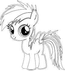 rainbow dash baby coloring pages coloringstar