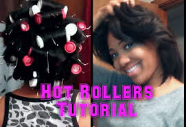 roller set relaxed hair remington hot rollers on blow dried relaxed hair youtube