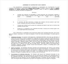 8 word non compete agreement templates free download free