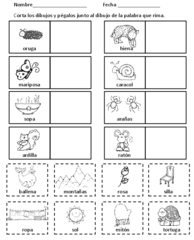 spanish syllable worksheets for kindergarten spanish syllables