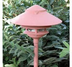 Pagoda Landscape Lights Pagoda Hat 3 Tier 10 Incandescent Cast Aluminum 120v Area