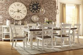 7 piece two toned casual cottage dining room set white russet