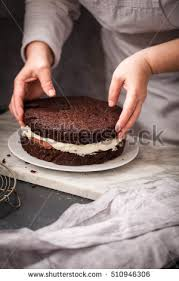 triple cake chocolate layer stock images royalty free images