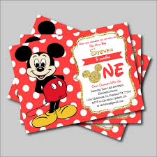 online get cheap mickey mouse party invitations aliexpress com