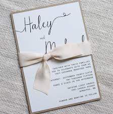 wedding invitations with ribbon modern wedding invitation simple wedding invitation rustic