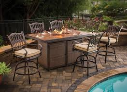 Fire Pit Tables And Chairs Sets - bar height fire pit table set fire pit ideas
