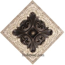 metal flower accent tiles for kitchen backsplashes