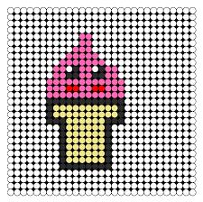 kawaii ice cream perler bead pattern bead sprites food fuse