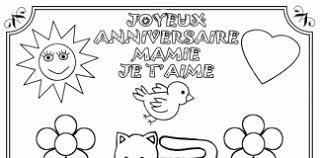 Coloriage Joyeux Anniversaire Mamie at SuperColoriage