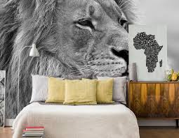 12 black white wall murals to upgrade your home decor eazywallz majestic lion head wall mural