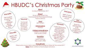 hbudc u0027s christmas party on sunday 3rd december 2017 harrow