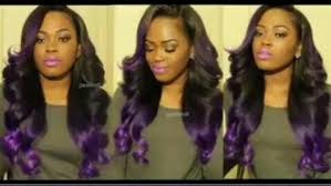 weave hairstyles with purple tips ready set slay
