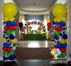 story party ideas story party decorations balloon columns cake table and much