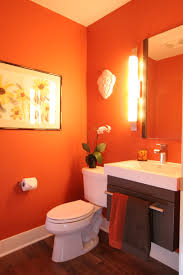 Red Powder Room Whole House Froze Design Build Remodeling In Waukesha County