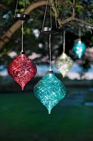 clear ornaments outdoor hanging solar