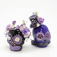 purple lavender bride and groom wedding cake topper u2014 marifarthing