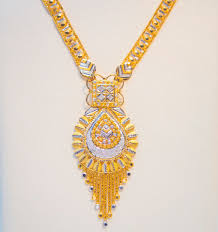 gold new necklace images Long necklace 22k gold indian design gioielleri jpg