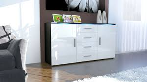 Black Buffet Server by Modern Sideboard Buffet Server Storage Cabinet Chest Faro In Black
