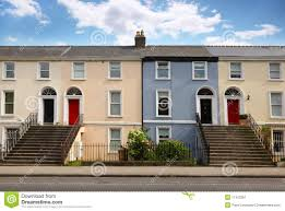 three story house three story house stands beside road stock image image 17413261