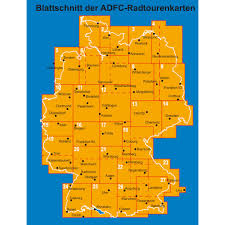 Kaiserslautern Germany Map by Adfc Radtourenkarten Bike Tour Maps 27 Regions At Choice Bike24