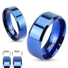 men rings wholesale images Cobalt blue beveled stainless steel band ring wholesale 925express jpg