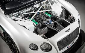 white bentley view of engine compartment white bentley continental gt3