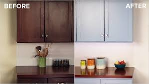 kitchen cabinet refinishing before and after refinish kitchen cabinets with kilz max primer