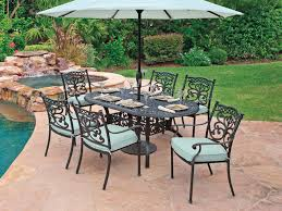 Chair King Outdoor Furniture - milan cast aluminum 7 pc dining set chair king