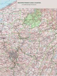 Pennsylvania Map With Cities And Towns by Western Pennsylvania Map With Cities And Towns My Blog