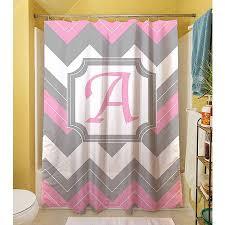 Shower Curtain At Walmart - thumbprintz chevron monogram pink shower curtain walmart com