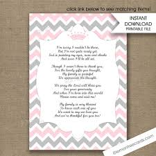 wedding shower poems pink princess crown baby shower thank you poem notes instant