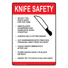 Kids Kitchen Knives by Ada Knife Safety Sign Nhe 15728 Food Prep Kitchen Safety