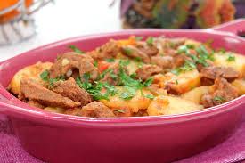 cuisine au four plat au four émincé de bœuf aux pommes de terre les joyaux de
