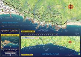 Jalisco Mexico Map Puerto Vallarta Walking Map Centro U0026 South Coast Jeffrey F
