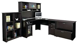 Office Depot Desks And Hutches Desk Alpine Lodge Rustic Auburn L Shaped Executive Desk W Hutch