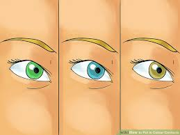 3 ways put colour contacts wikihow