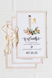 wedding day programs wedding programs and itineraries eleven west
