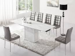 White Marble Dining Tables Modern Kitchen Amazing Plain Design White Marble Dining