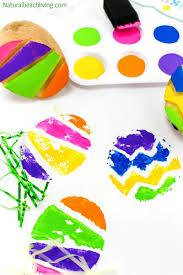the best easter egg potato stamp ideas for kids natural beach living