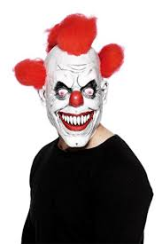 Scary Clown Halloween Costumes Scary Clown Mask Wide Smile Red Hair Icp Evil Creepy