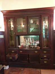 victorian built in oak cabinet buffet china cabinet china