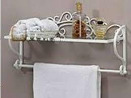 kitchen shelf with towel bar towel