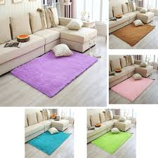 Area Rug Mat 2 Dimensions 50cm 80cm Plush Shaggy Soft Carpet Area Rug Slip