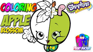 shopkins coloring book shopkins apple blossom coloring page for