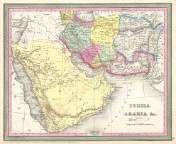 Arabia Map File 1850 Mitchell Map Of Arabia Persia Afghanistan